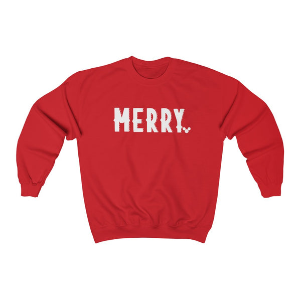 WHITE MERRY Christmas Crewneck Sweatshirt