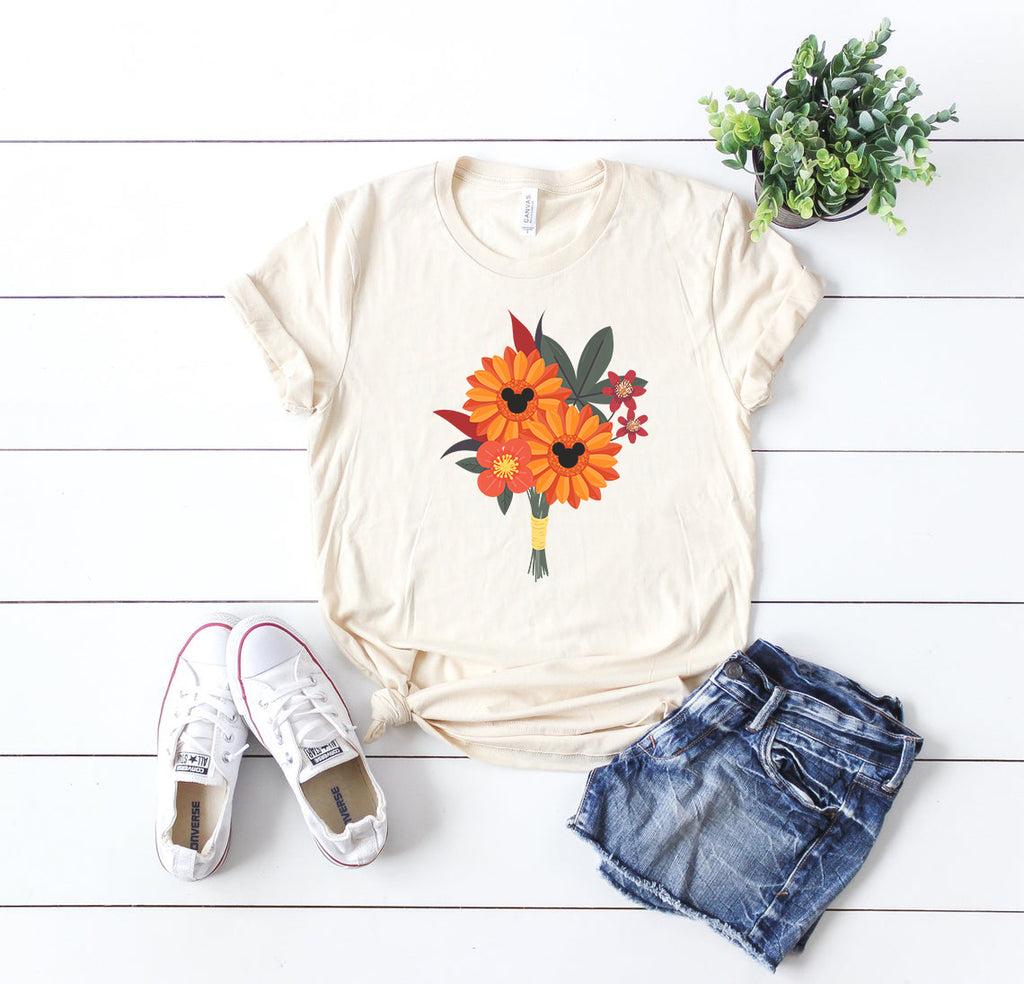 Flower Arranagement Mickey Fall Autumn Shirt