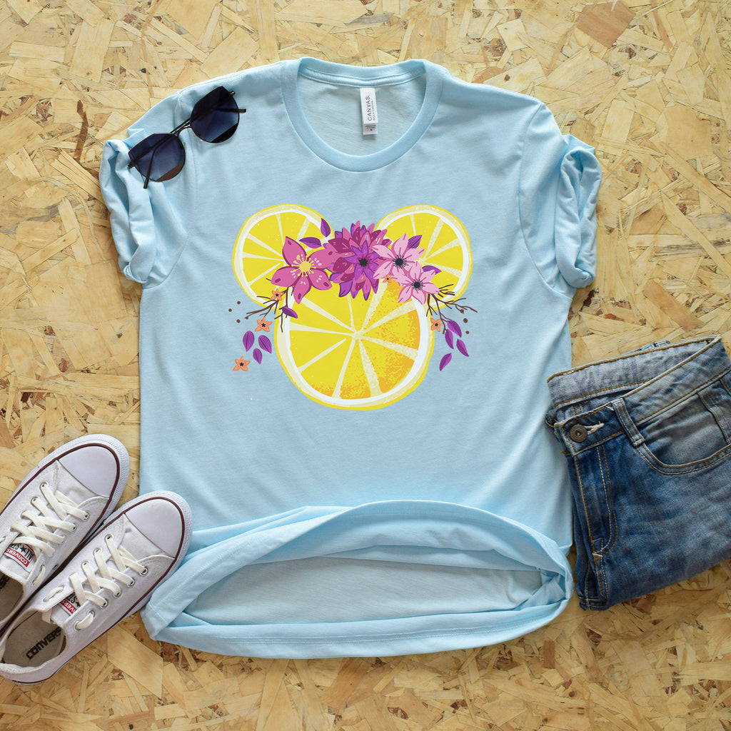 Violet Lemonade Mickey Short Sleeve Shirt