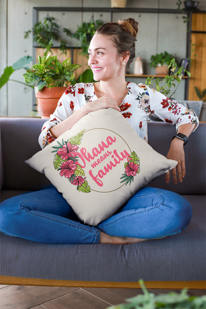 Ohana Means Family Hawaiana Lilo Stitch Pillow Case