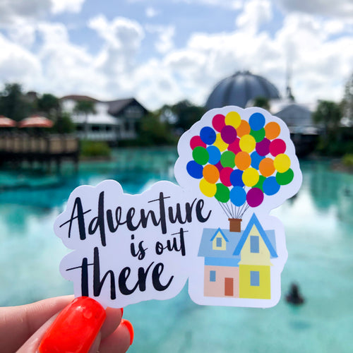 Adventure is out there Bubble-free Transparent Sticker