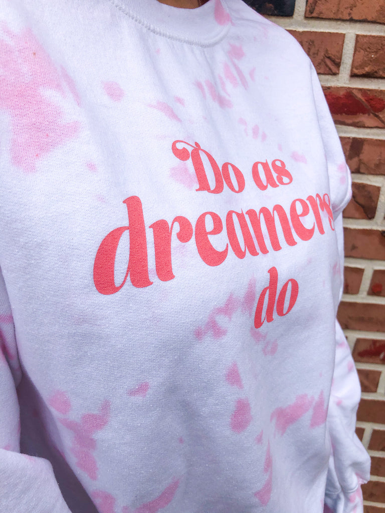 Do as Dreamers Do Tie Dye Heavy Blend Crewneck Sweatshirt