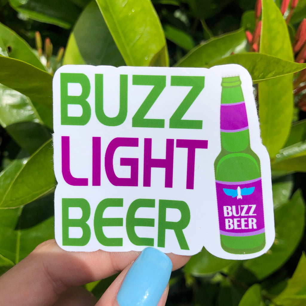 Buzz Light Beer Sticker