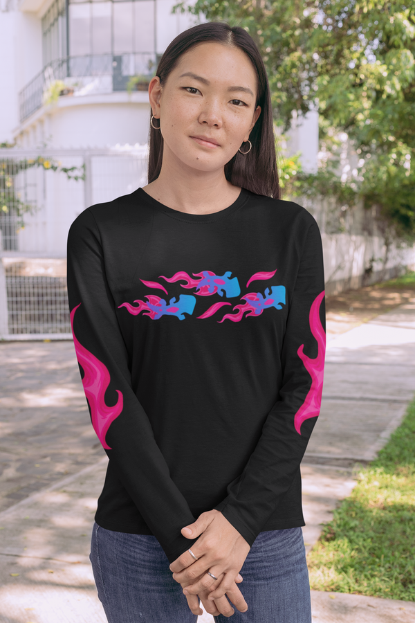 Pink Flame Bruni Long Sleeve Shirt