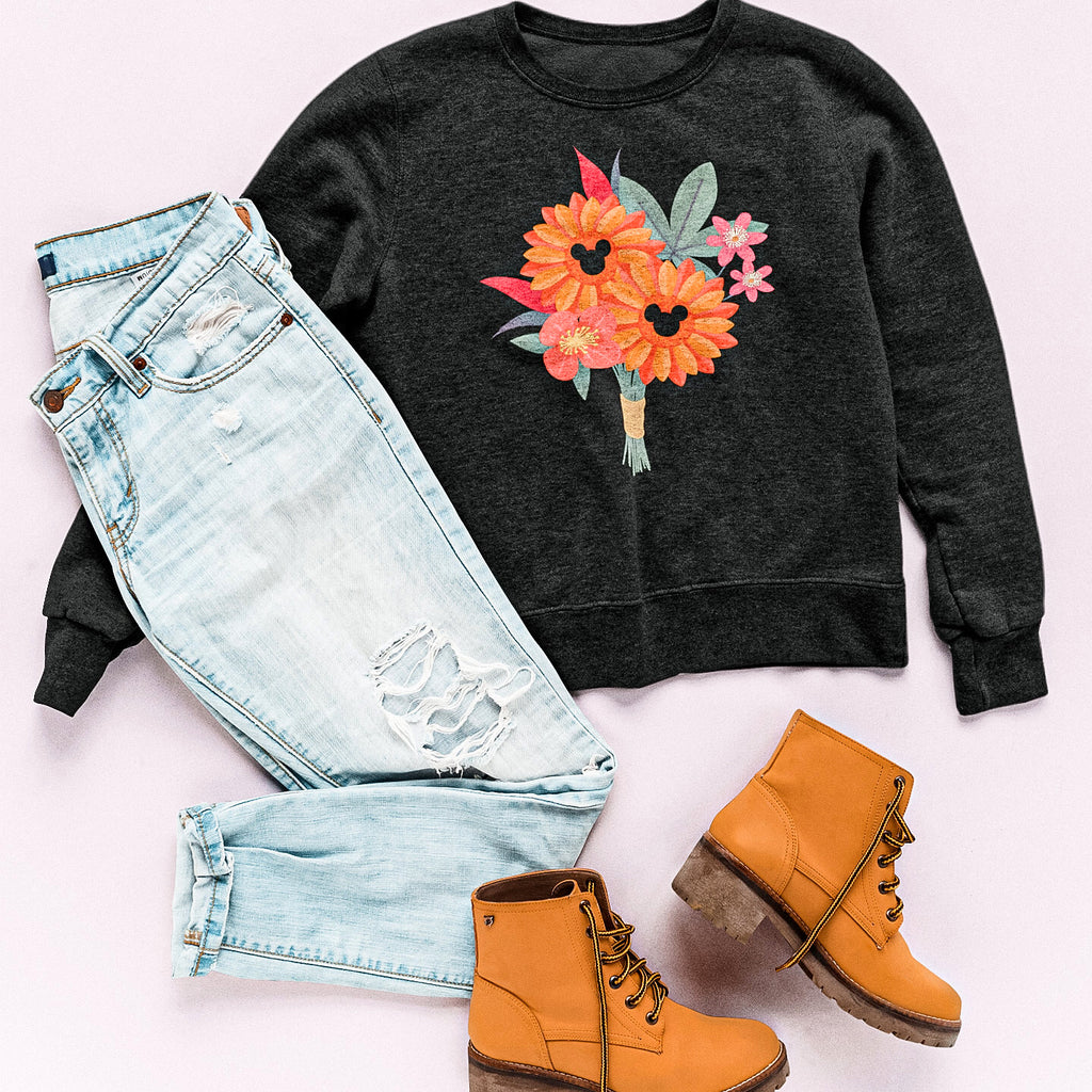 Fall Flower Arrangement Hidden Mickey Heavy Blend™ Crewneck Sweatshirt