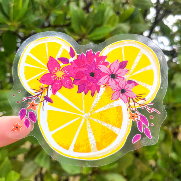 Lemonade Minnie Mouse Tropical Bubble-free Sticker