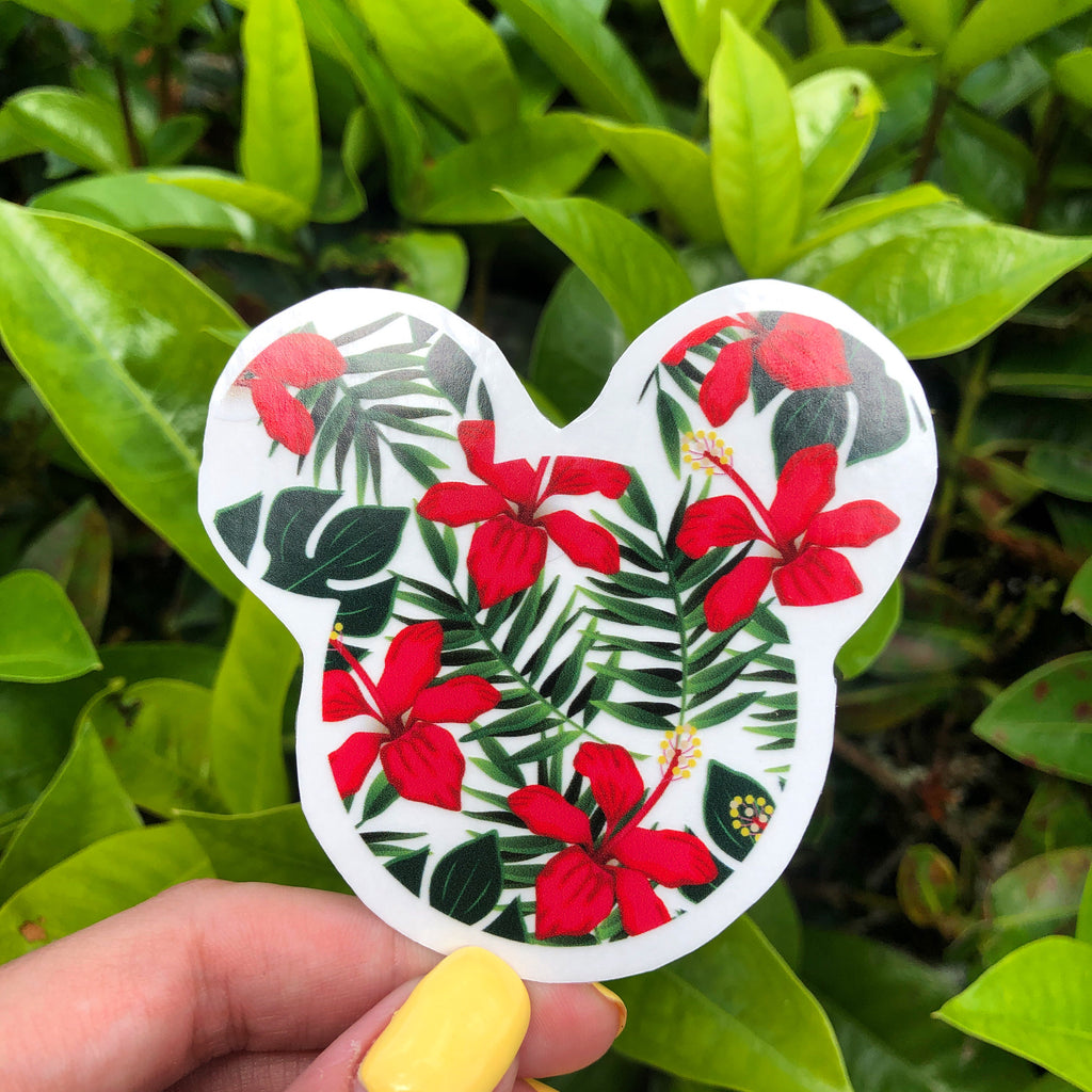 Mickey's Tropical Paradise Bubble-free stickers