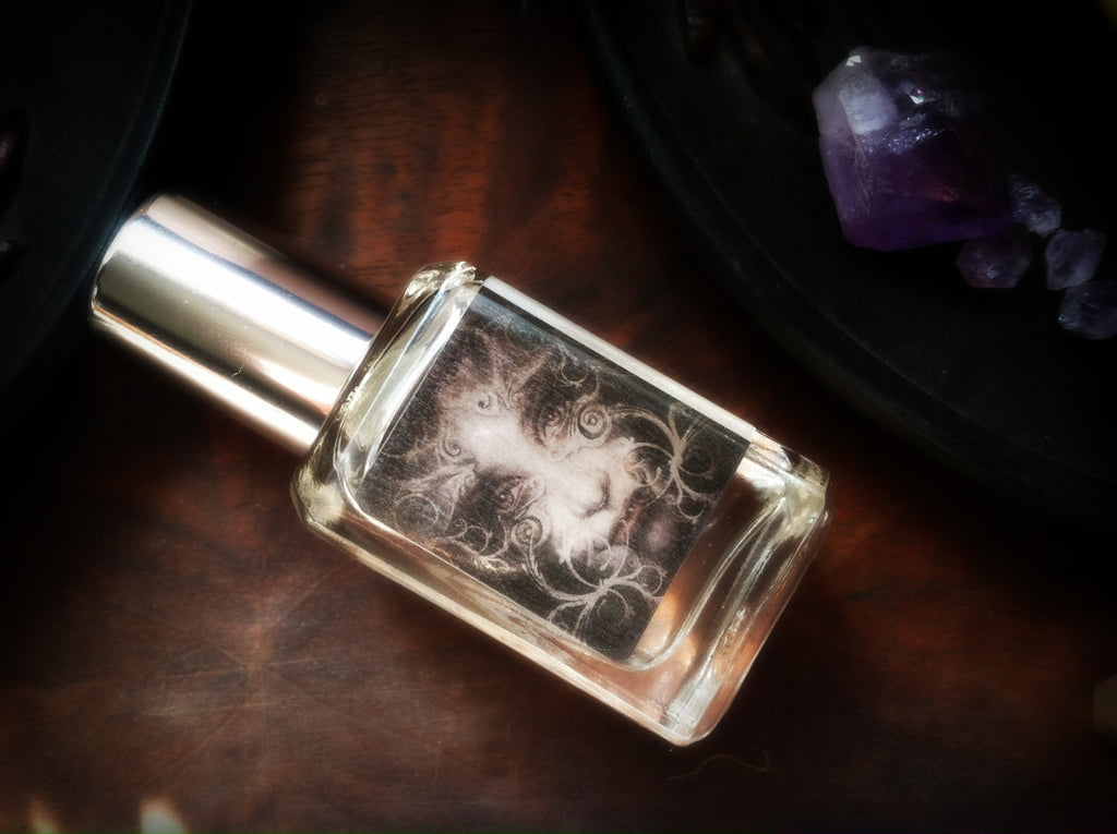 PARTING THE VEIL ~ Halloween Perfume Oil - Cold Night Air Damp Earth Hawthorn Berry White Amber Incense