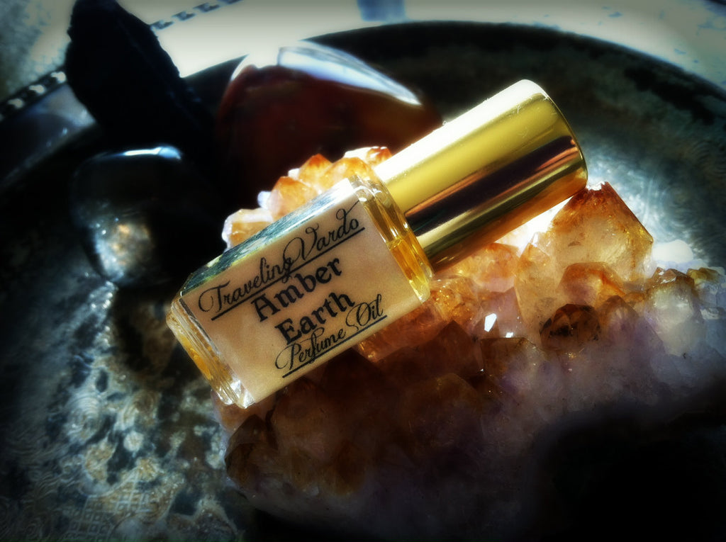 AMBER EARTH PERFUME OIL ~ All Natural ~ Amber Sandalwood Perfume Frankincense Myrrh Vetiver
