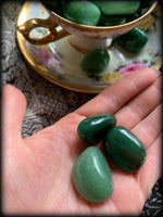 GREEN AVENTURINE TUMBLED CRYSTAL ~ For Harmony and Clarity of Purpose