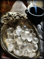 CLEAR QUARTZ TUMBLED CRYSTAL ~  For Amplification of Energy