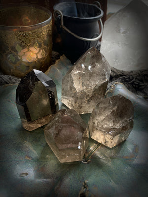 SMOKY QUARTZ POLISHED CRYSTAL POINTS ~ For Grounding and Cleansing Negativity