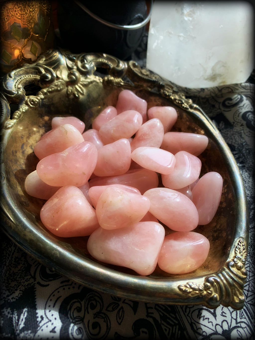 ROSE QUARTZ TUMBLED CRYSTAL ~ For Self Love, Trust, and Harmony