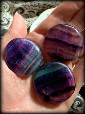 FLUORITE POLISHED CARRY STONE ~ For Mental Clarity and Heighening Intuitive Abilities