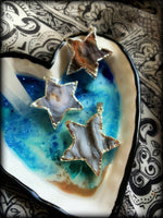 WHEN YOU WISH UPON A STAR ~ Druzy Pendant with Sterling Silver Chain