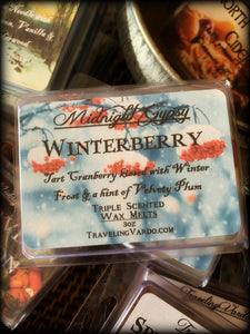 WINTERBERRY ~ Highly Fragranced Soy Blend Wax Tarts