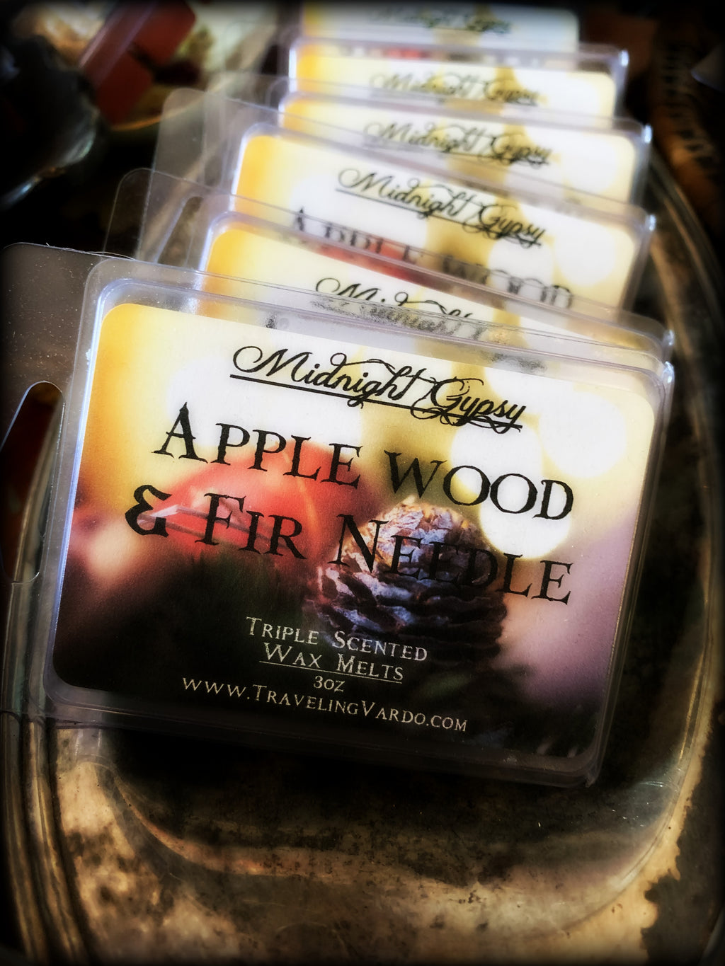 APPLE WOOD & FIR NEEDLE ~ Highly Fragranced Soy Blend Wax Tarts
