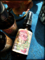 ROSE RED ~ Organic Magickal Rose Botanical Mist ~ Full Moon Charged and Rose Quartz Infused