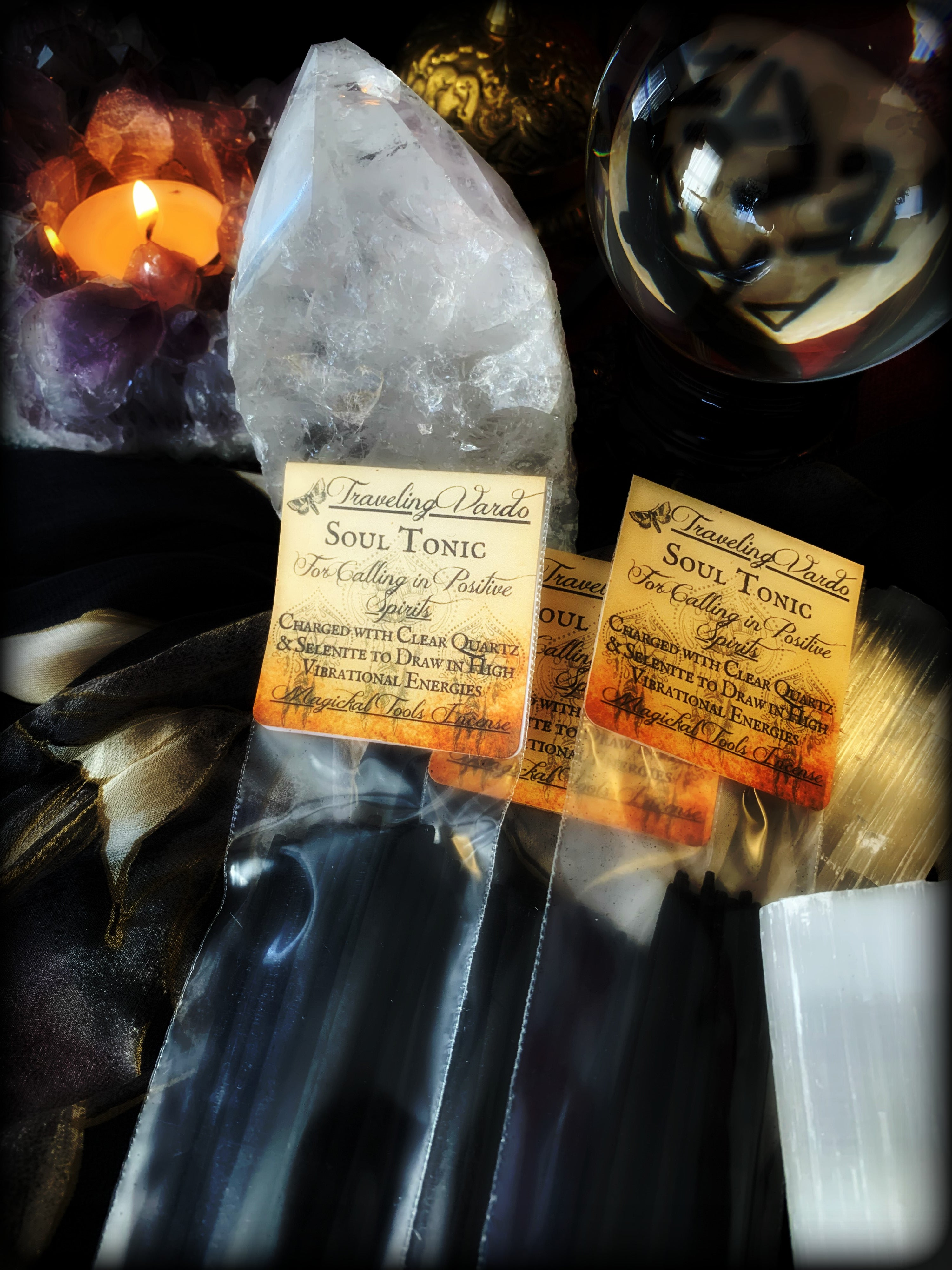 SOUL TONIC ~ Magickal Tools Incense for Calling in Positive Spirits and High Vibrational Energies