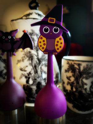 TEA INFUSERS ~ Witchy Owl or Bat ~ Silicone and Stainless Steel