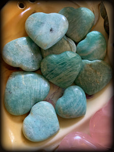 AMAZONITE CRYSTAL HEART ~ For Inspiring Optimism and Hope