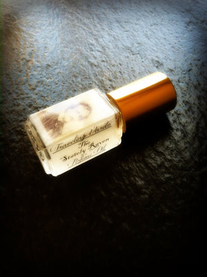 THE STATELY RAVEN PERFUME OIL ~ Black Tea Bergamot Vanilla Sandalwood Oakmoss Bay Clove