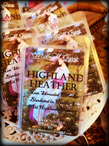 HIGHLAND HEATHER ~ Highly Fragranced Soy Blend Wax Tarts
