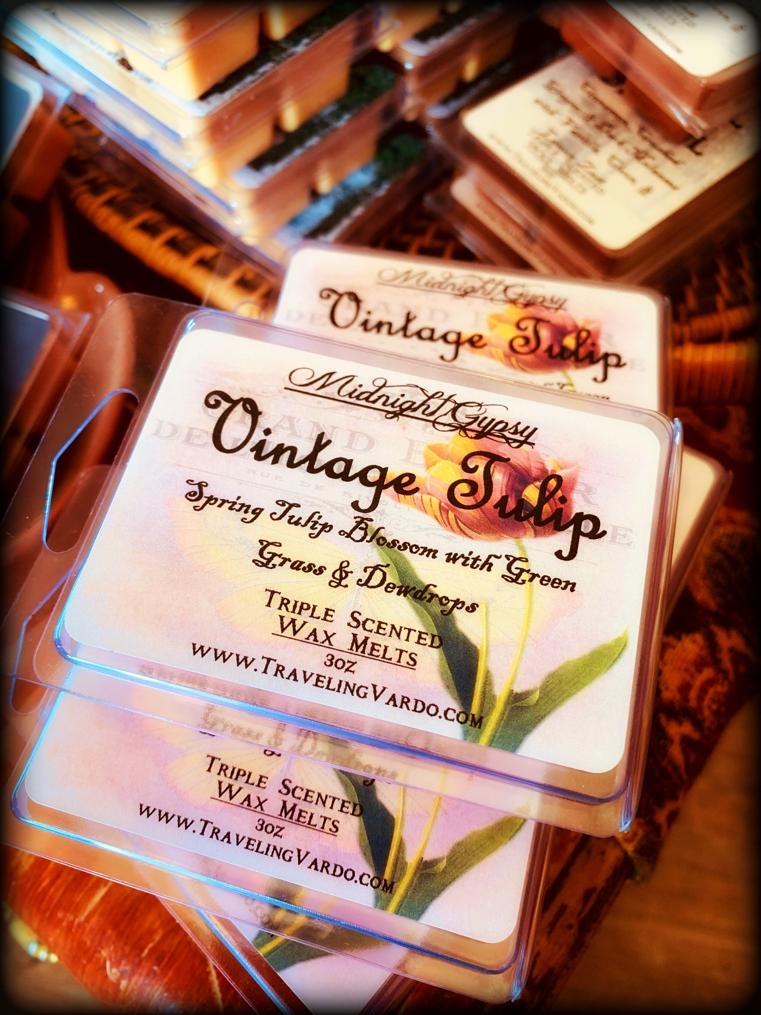 VINTAGE TULIP ~ Highly Fragranced Soy Blend Wax Tarts