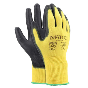 12 Pairs x Safurance PU Nitrile Coated Work Gloves (Size M/L/XL)