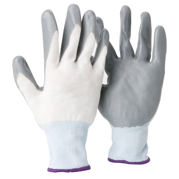 White Anti Slip Nitrile Latex Work/ Safety Gloves