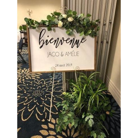 Painted Framed Welcome Sign - Wedding