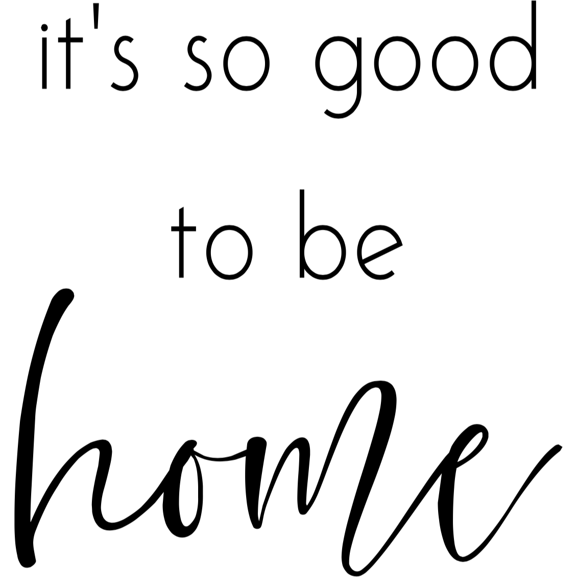 So Good to be Home - Digital Download