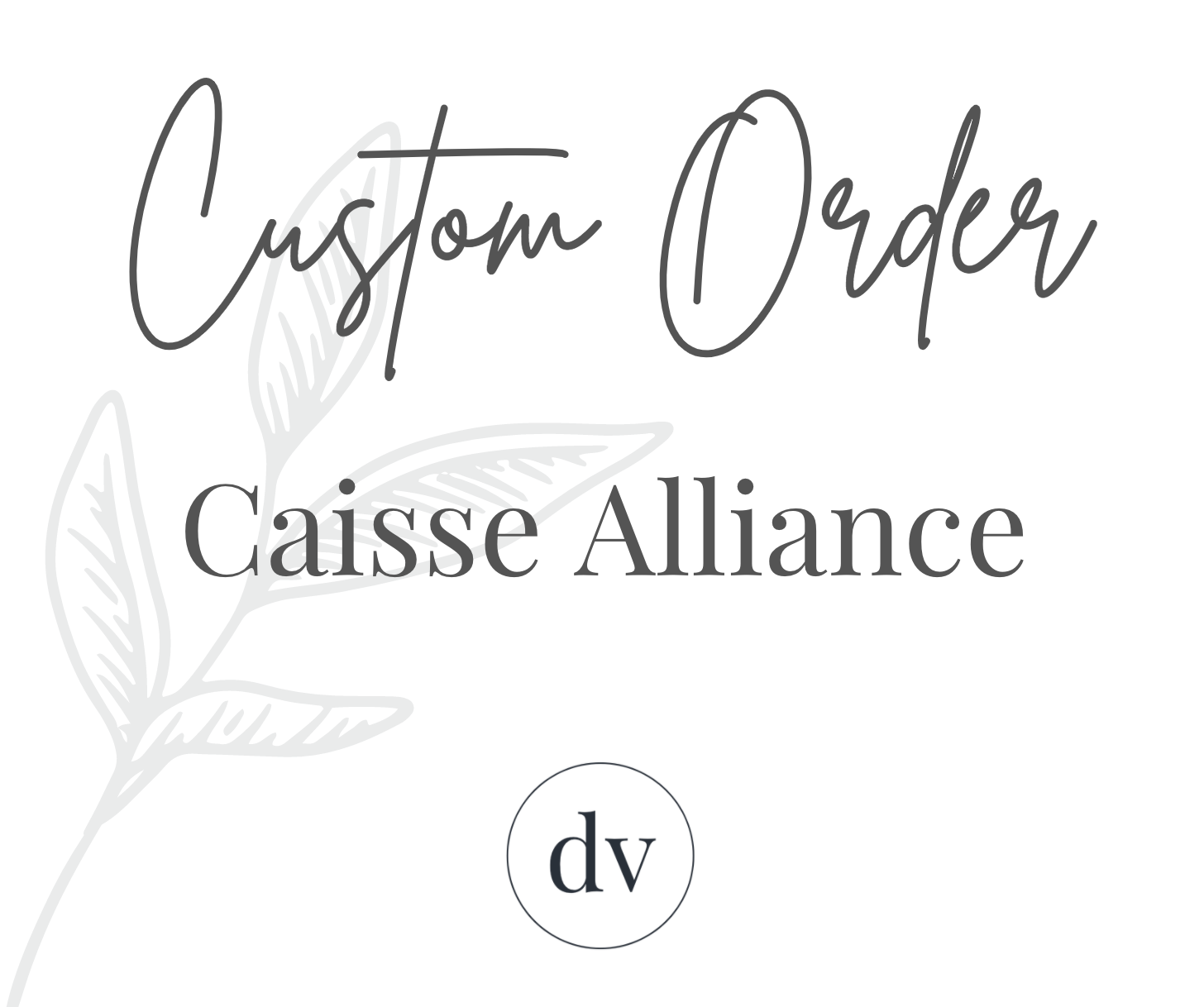 Custom Business Sign for Caisse Alliance