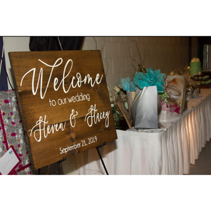 Painted Welcome Sign - Wedding