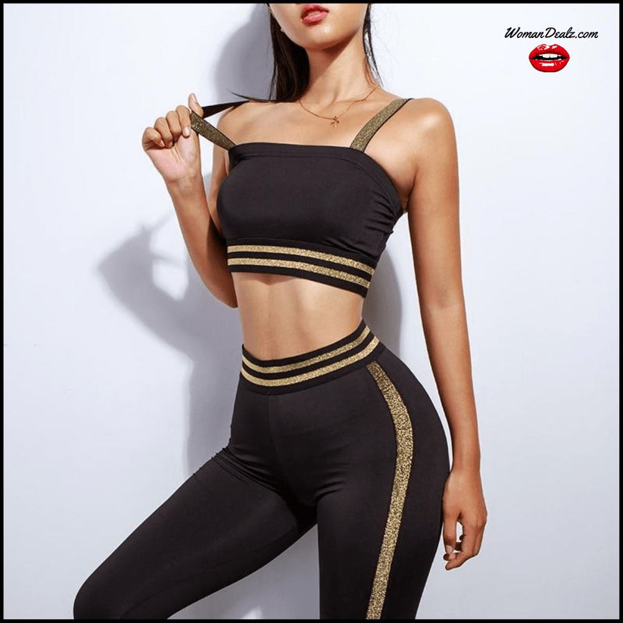 Gym Tracksuit - Sports Bra + High Waist Pants