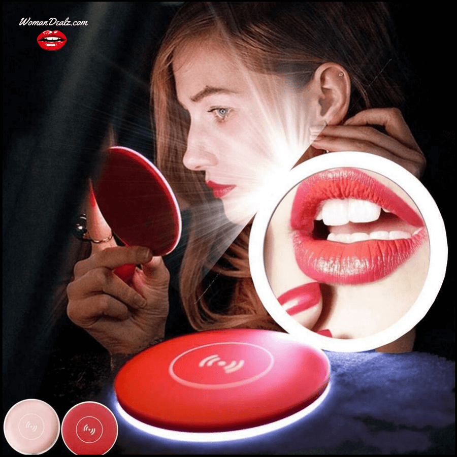 LIGHTY™ LED Makeup Mirror + Wireless USB Charging