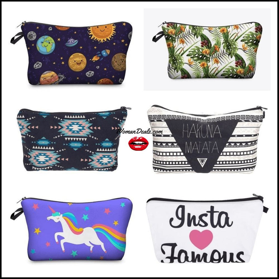 Cute Printed Makeup Bags