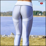 Mesh Pattern Printed Fitness Yoga Pants