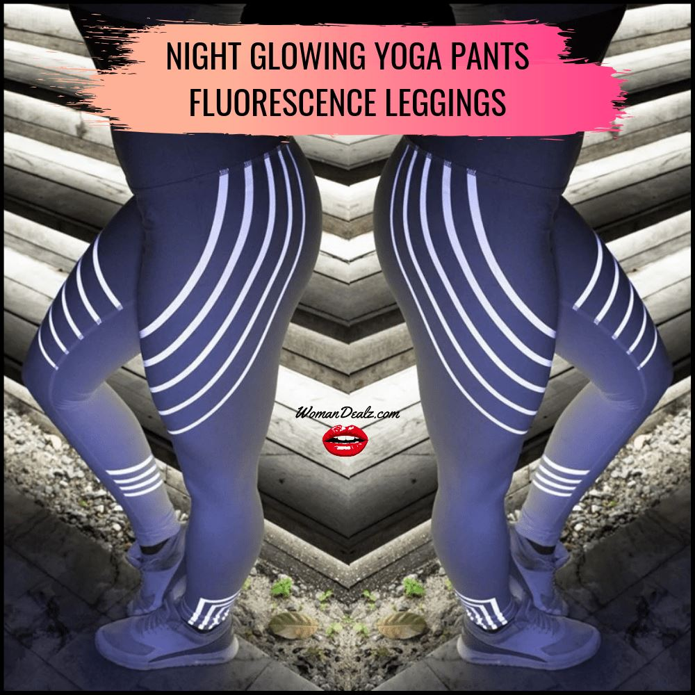 Night Glowing Yoga Pants