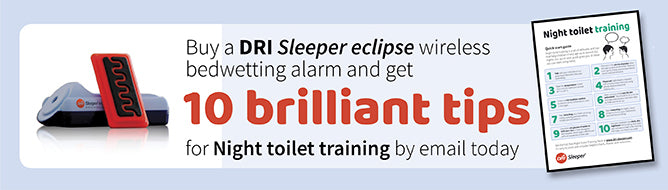 Stop bedwetting quickly with a DRI Sleeper bedwetting alarm
