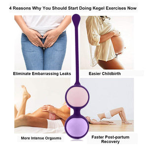 Kegel Balls – Beginner Ben Wa Training Kit for Pelvic Floor Muscle Strengthening
