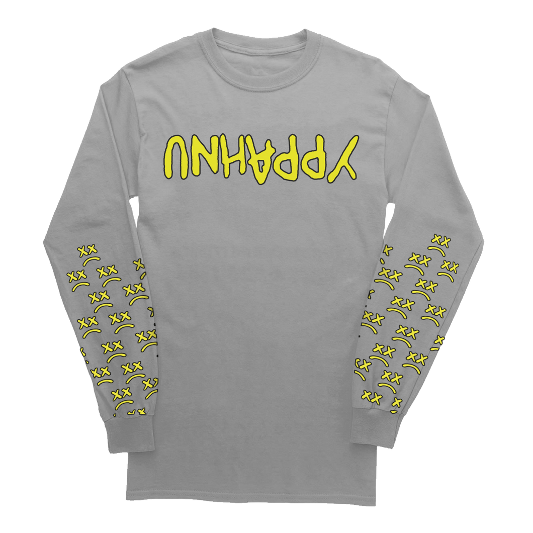 "GREY LONG SLEEVE - ""UNHAPPY Barbed Wire"" Grey Long Sleeve"