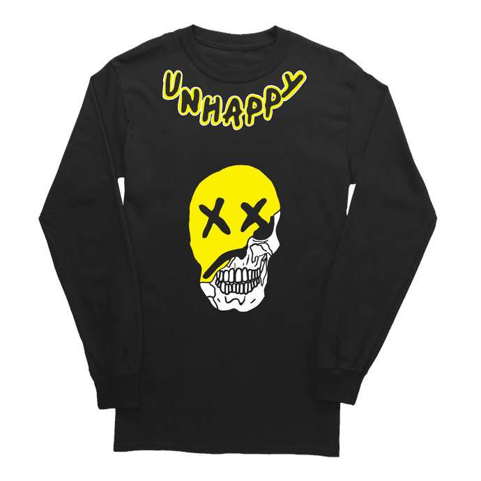 BLACK LONG SLEEVE - 'Shredded Smile'