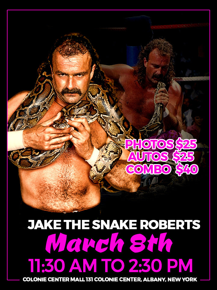 Jake The Snake Roberts Meet & Greet WrestleFest 2
