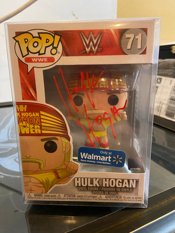 Hulk Hogan Wal Mart Autograph Pop with JSA