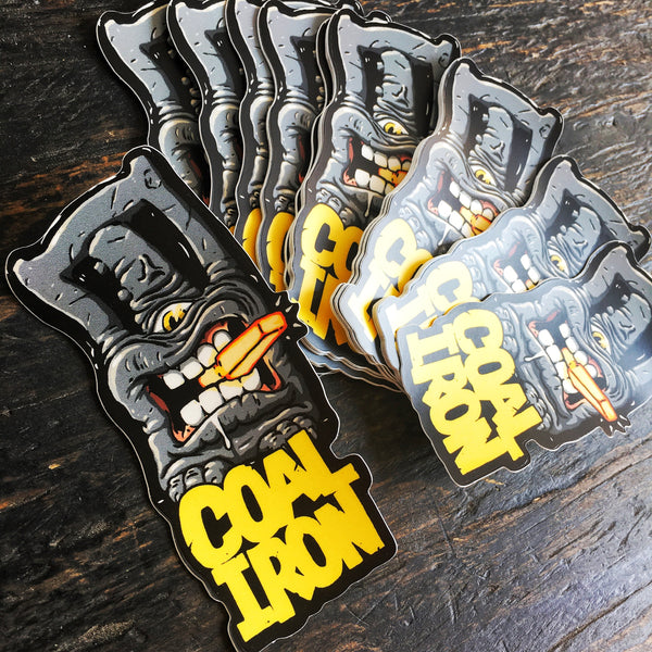 Coal Iron 12-TON MONSTER Stickers