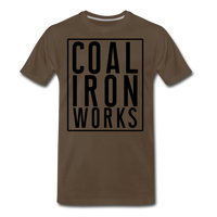 Men's Premium CIW Logo T-Shirt - noble brown