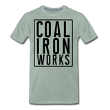 Men's Premium CIW Logo T-Shirt - steel green