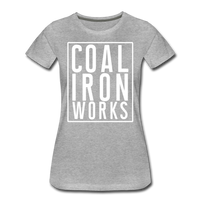 Women's Premium CIW White Logo T-Shirt - heather gray