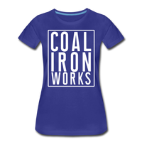 Women's Premium CIW White Logo T-Shirt - royal blue